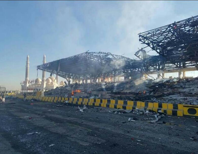 صورة من ميدان السبعين صباح اليوم بعد قصف الطيران 3