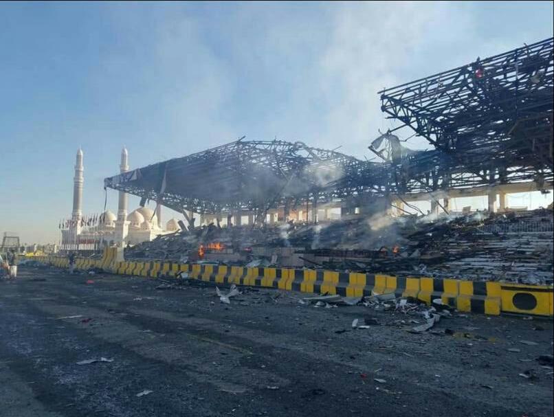 صورة من ميدان السبعين صباح اليوم بعد قصف الطيران 1