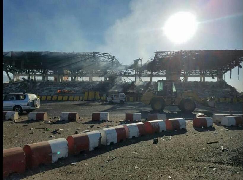 صورة من ميدان السبعين صباح اليوم بعد قصف الطيران 2