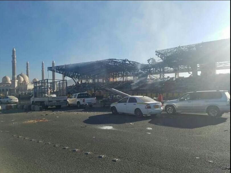 صورة من ميدان السبعين صباح اليوم بعد قصف الطيران