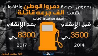 دبة البترول.. كم كان سعرها قبل انقلاب الحوثي وكم أصبح سعرها؟