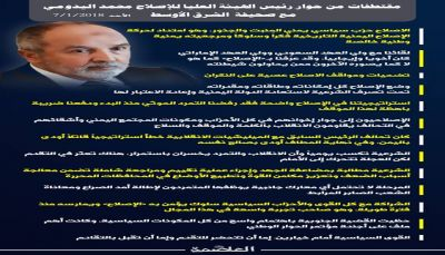 """حوار رئيس حزب الاصلاح مع صحيفة """"الشرق الأوسط"""""""