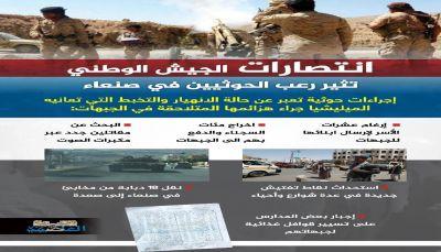 انتصارات الجيش تثير رعب الحوثيين بصنعاء