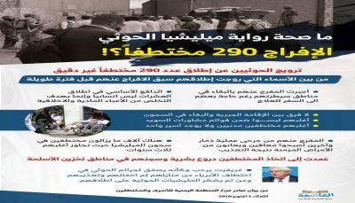 ماصحة رواية الحوثيين حول الافراج عن مختطفين؟