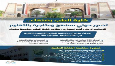 كلية الطب بجامعة صنعاء تدمير حوثي ممنهج
