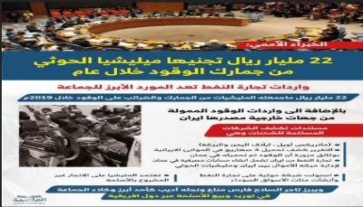 الخبراء الأممي: 22 مليار ريال تجنيها مليشيا الحوثي من جمارك الوقود خلال عام.