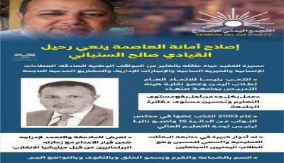 إصلاح أمانة العاصمة ينعي رحيل القيادي صالح السنباني