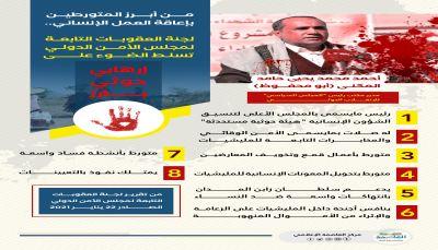 تقرير فريق العقوبات الأممي يسّلط الضوء على أنشطة الإرهابي الحوثي أحمد حامد