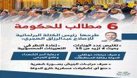 كتلة الإصلاح تطرح 6 مطالب للحكومة الشرعية