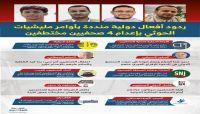 ردود أفعال دولية منددة بأوامر مليشيا الحوثي بإعدام 4 صحفيين مختطفين.
