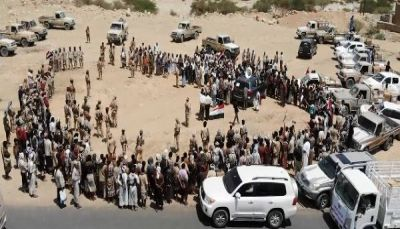 People of Sanaa provides  100- truck convoy to support National Army in Nihm Front