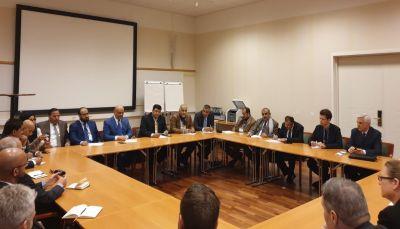 الوفد الحكومي المفاوض يلتقي سفراء الدول دائمة العضوية بمجلس الأمن