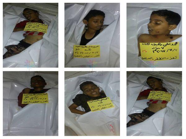 تحالف حقوقي: مقتل وإصابة أكثر من ألفي طفل برصاص الانقلابيين في تعز خلال 5 أشهر