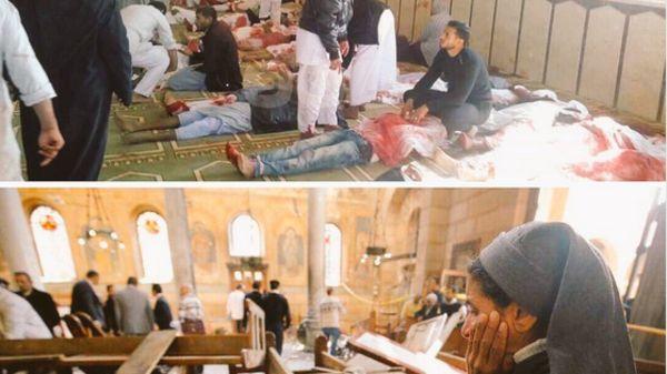 صورة مؤلمة جمعت حدث واحد بين ديانة الإسلام والمسيح في مصر