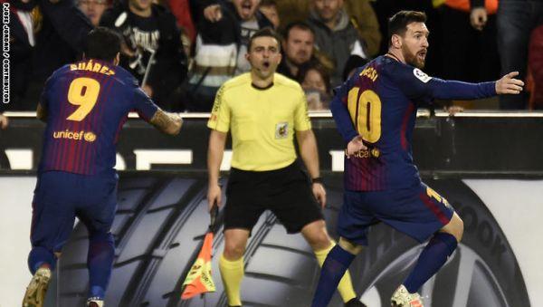 برشلونة وفالنسيا يتعادلان في مباراة مثيرة