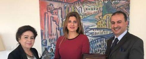 مجلس المرأة العربية يكرم صاحبةً السمو الاميرة دينا مرعد