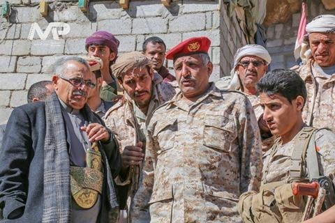 محافظو إقليم تهامة يتفقدون أبطال المنطقة العسكرية السابعة شرق صنعاء