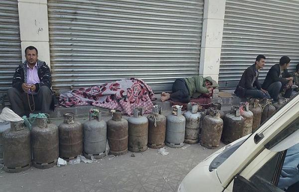 """""""أزمة الغاز"""" ورقة سياسية بيد المليشيا الحوثية.. ومصدر لجباية الأموال (تقرير خاص)"""