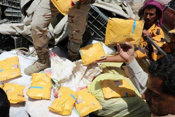 أمن مأرب يضبط 175 كيلو حشيش كانت في طريقها الى مليشيات الحوثي