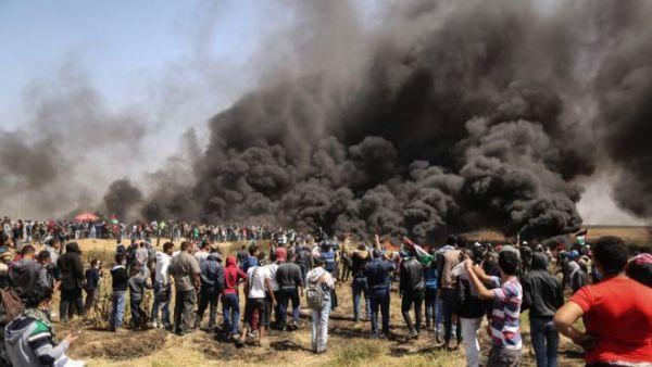 استشهاد فلسطينيين اثنين في إطلاق الاحتلال الاسرائيلي النار على تظاهرات شمال غزة