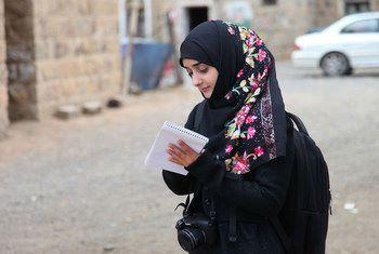 """صحفية يمنية تفوز بجائزة الأمم المتحدة """"أصوات مستقبلية أكثر إشراقا"""""""