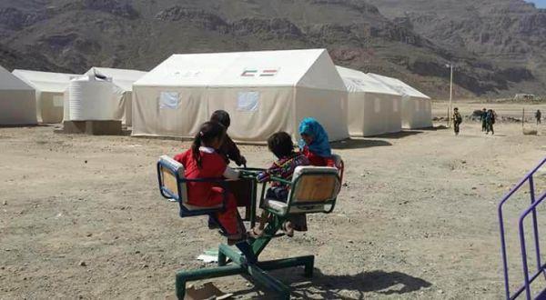 صنعاء: توزيع مساعدات إيوائية على 200 أسرة متضررة من الأمطار بمخيم الخانق