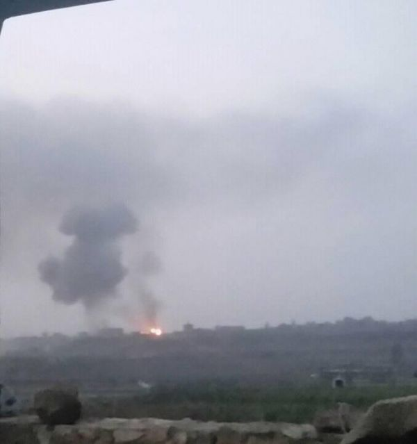"""التحالف يشن ثلاث غارات على مواقع الحوثيين شمال """"صنعاء"""" (صورة)"""