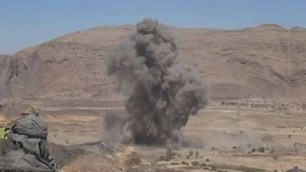 قتلى وجرحى حوثيين في قصف الجيش لتجمعاتهم شرقي صنعاء