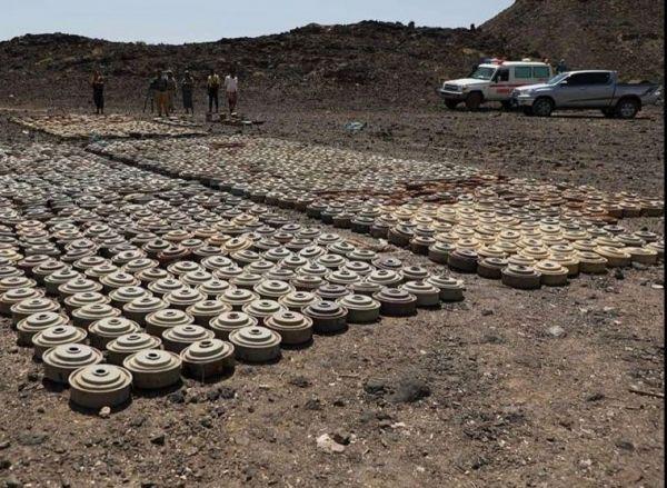 مسام ينتزع أكثر من 11 ألف لغم زرعها الحوثيون في مناطق متفرقة