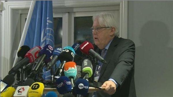 """غريفيث: مشاورات السويد """"صعبة للغاية"""" واتفاق تبادل الأسرى سيعلن خلال يومين"""