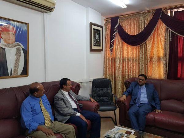 نائبا وزير الإعلام وشئون المغتربين يبحثان تنسيق دور الوزارتين والاعلام الرسمي الموجه للمغتربين