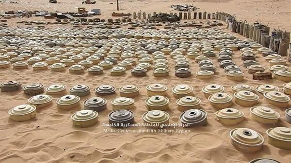 مشروع مسام لنزع الألغام ينتزع أكثر من 41 ألف لغم حوثي