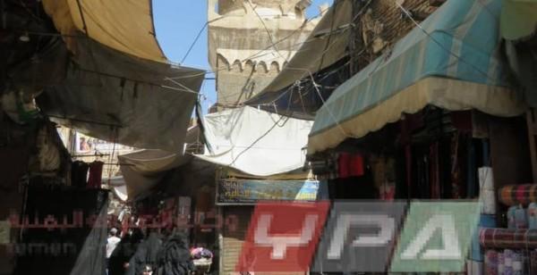 مليشيات الحوثي تحول قاعدة مئذنة أحد مساجد صنعاء القديمة الى محل تجاري