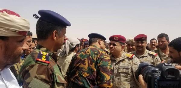 عاجل  وصول وزير الدفاع اليمني إلى مدينة مأرب للإشراف على العملية العسكرية