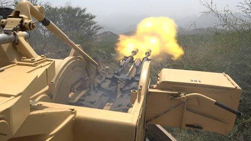 مقتل وجرح 45 عنصرا حوثياً.. والجيش يسقط رابع طائرة مسيرة في الضالع