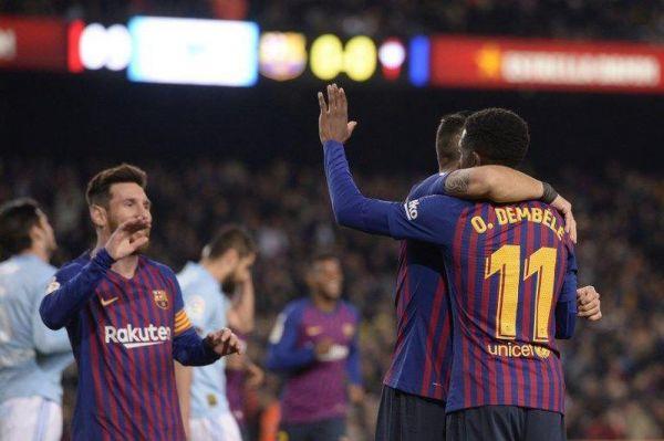 برشلونة مع ديمبيلي لمواجهة يونايتد في ربع نهائي أبطال أوروبا