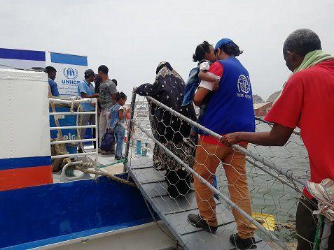 الهجرة الدولية تعلن إجلاء مهاجرين أفارقة عبر ميناء عدن