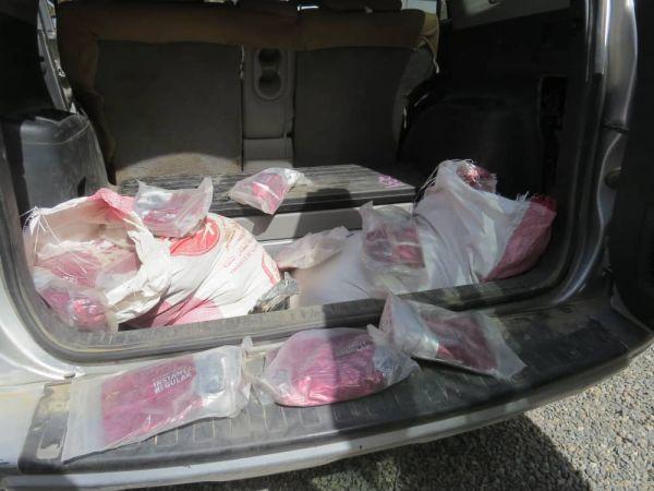أمن مأرب يضبط 125 كيلو حشيش مخدر كانت في طريقها إلى صنعاء