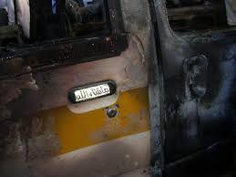 أزمة الغاز المفتعلة من الحوثيين تتسبب باحتراق باص نقل بصنعاء