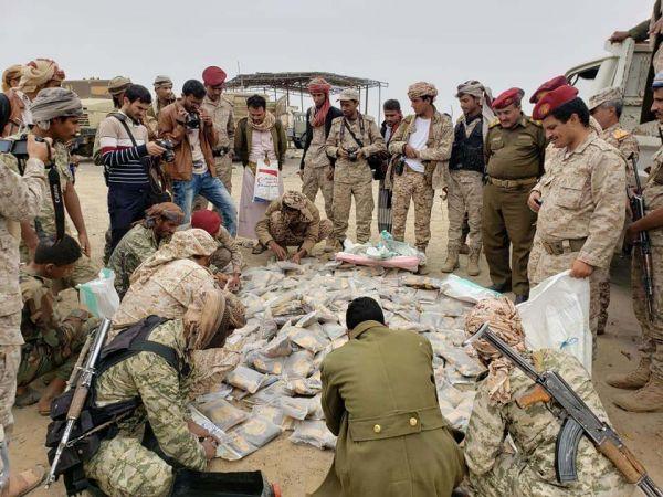 """الجيش يضبط شحنة """"حشيش"""" قبل أن تصل للحوثيين بصنعاء"""