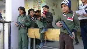 ضمن أنشطة التطييف.. الصرخة الحوثية تحل محل الأناشيد الوطنية في طابور الصباح بصنعاء