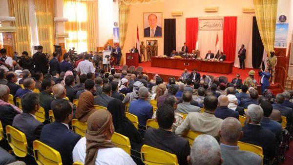 البرلمان يدعو الرئيس لاتخاذ قرارات حاسمة تجاه استكمال التحرير واتفاق الرياض