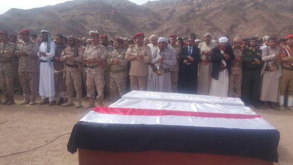 بموكب جنائزي مهيب.. تشييع جثمان قائد اللواء 153 مشاه العميد محمد العقيلي