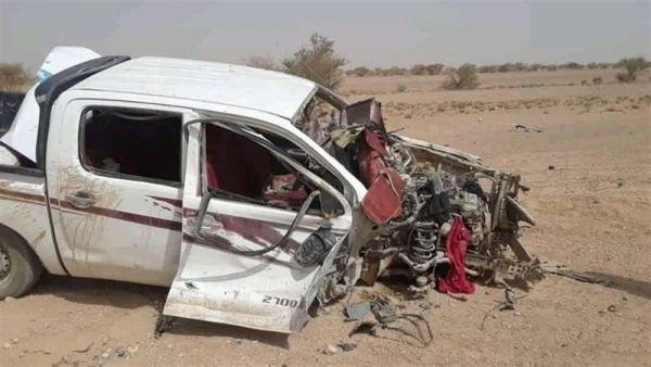 استشهاد امرأة وجرح 6 من أسرة واحدة بانفجار لغم حوثي في الجوف