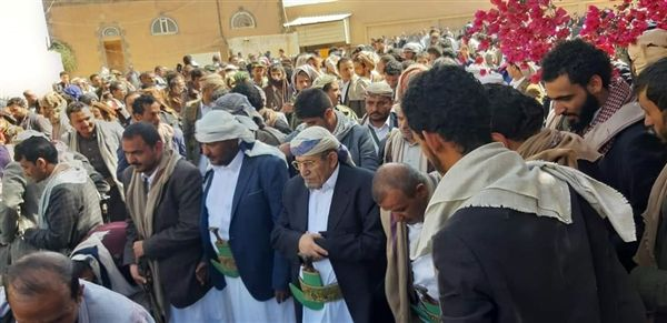 تشييع جثمان فقيد الوطن الشيخ سنان أبو لحوم بصنعاء