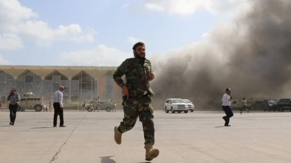 """عملية إرهابية """"حوثية"""".. الكشف عن نتائج تحقيقات استهداف مطار عدن"""