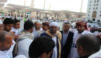 الوزير عطية يودّع الحجاج اليمنيين العائدين الى ارض الوطن