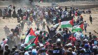 شهيد وأكثر من 100مصاب برصاص الاحتلال الإسرائيلي قرب حدود غزة