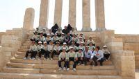 أطفال مجندون يتعرفون على معالم تاريخية بمأرب