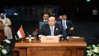 رئيس الجمهورية يدعو المجتمع الدولي للوقوف بحزم أمام التدخلات الإيرانية في اليمن